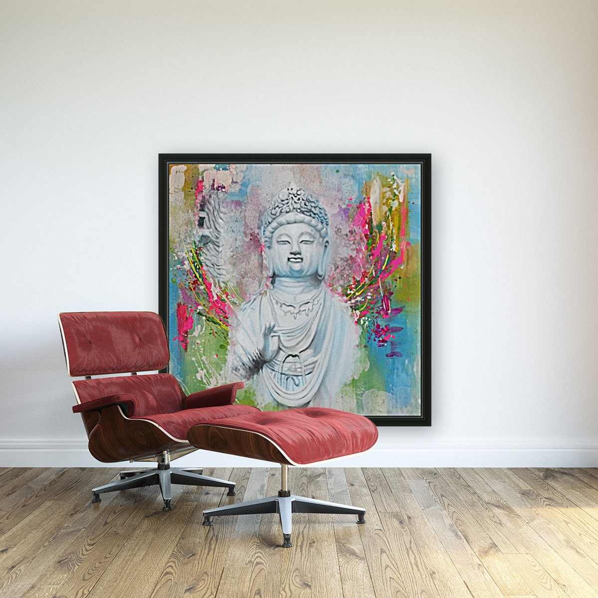 Buddha with Floating Frame