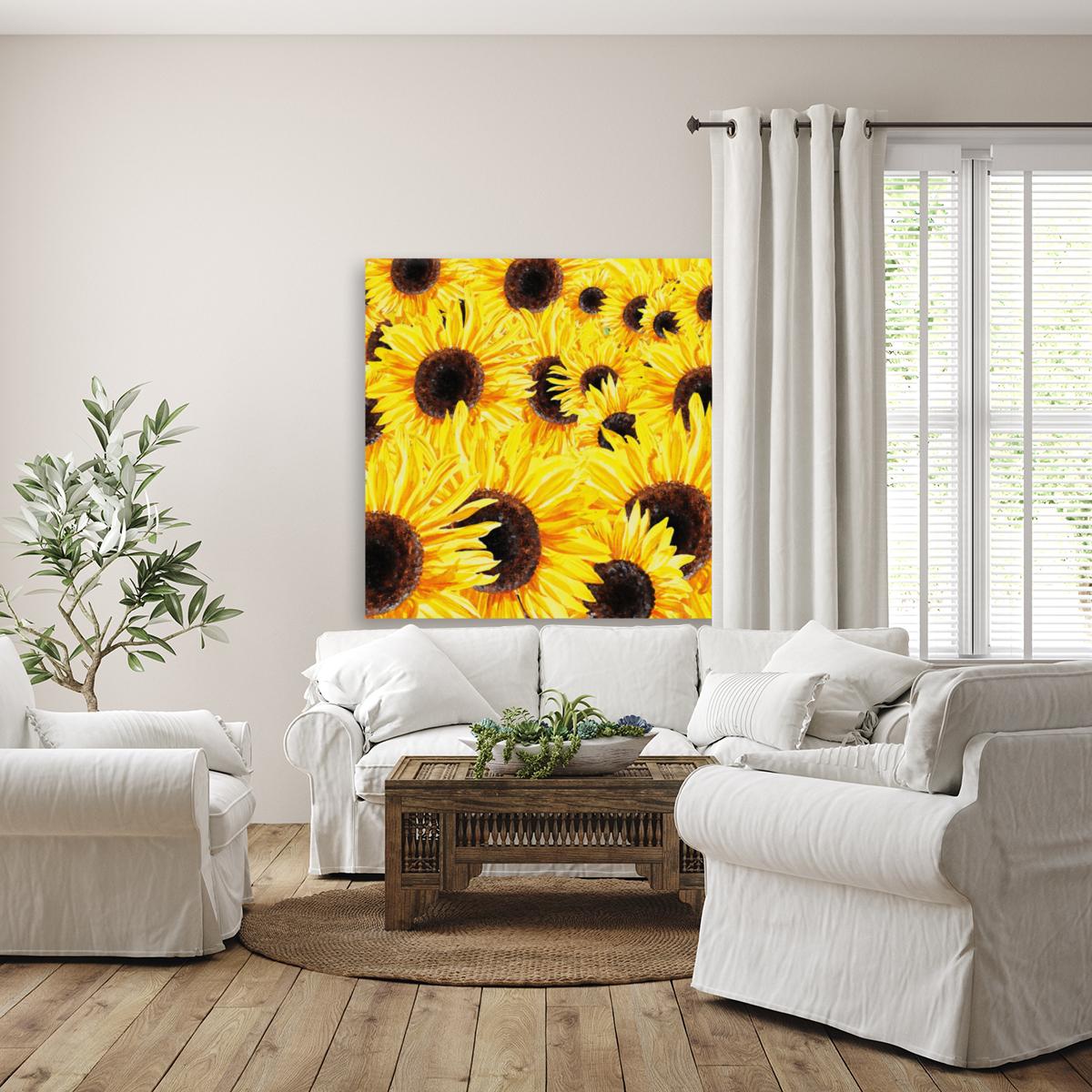 Sunflowers Field Watercolor Painting by Irina Sztukowski  Art