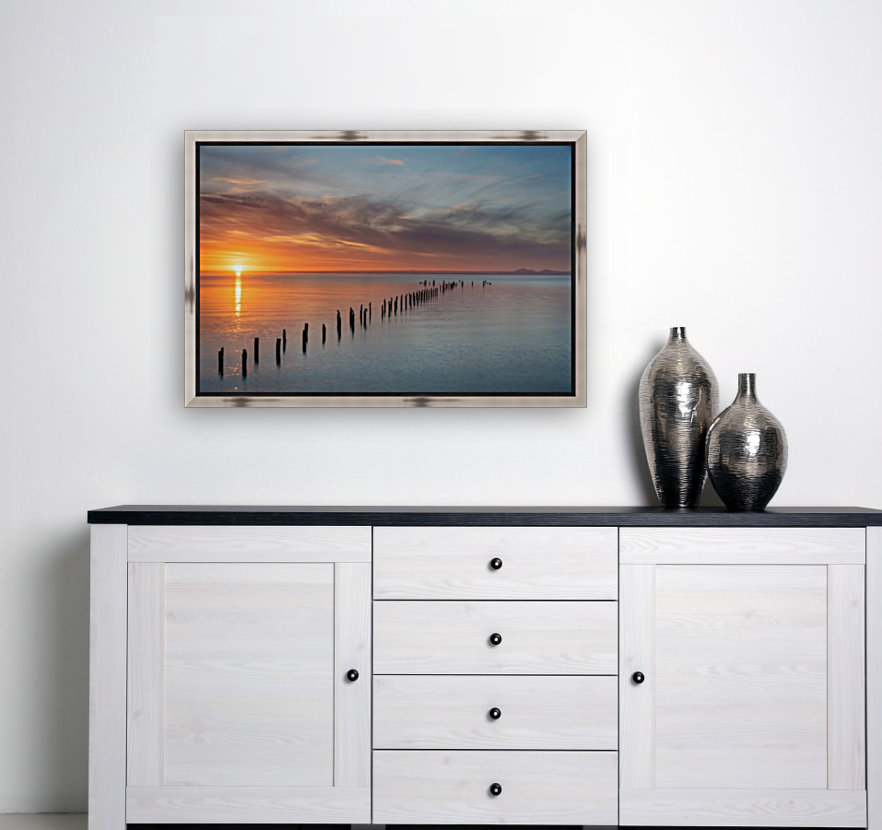 Sunset Pier with Floating Frame