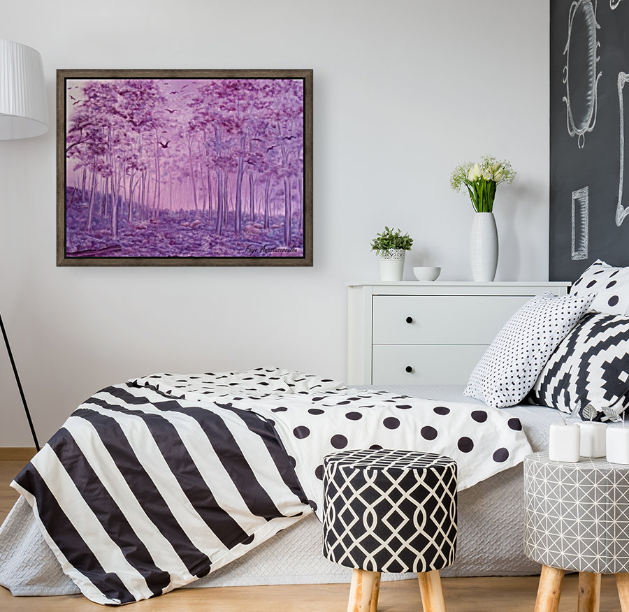 Purple Woods with Floating Frame