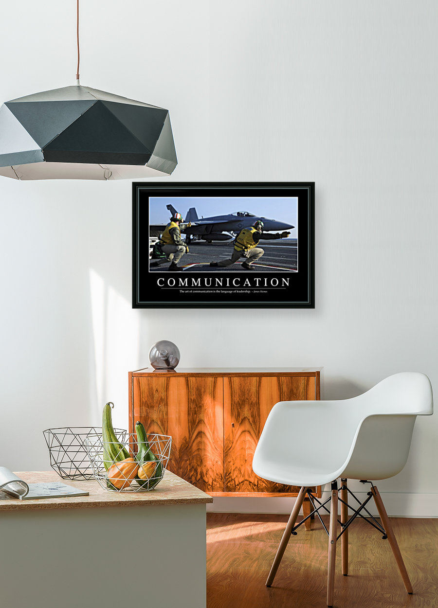 Communication: Inspirational Quote and Motivational Poster  Art