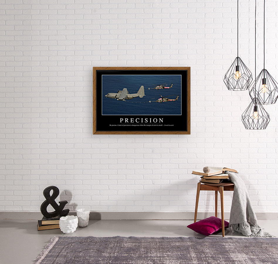 Precision: Inspirational Quote and Motivational Poster  Art