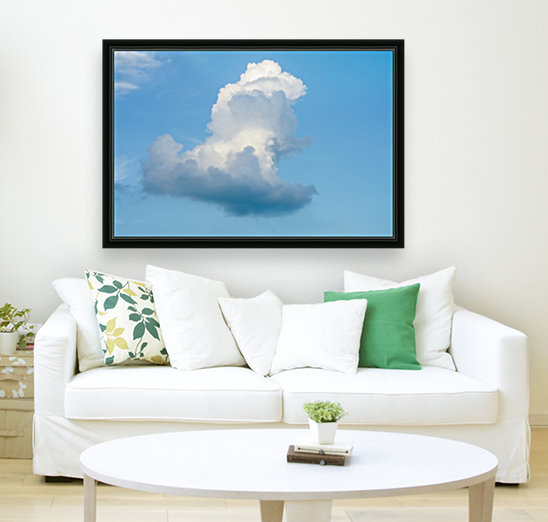 Cloud and blue sky with Floating Frame