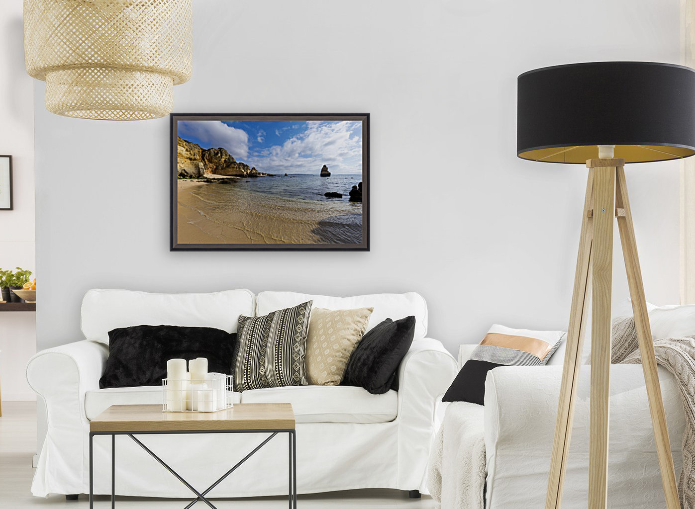 Praia do Camilo with Floating Frame