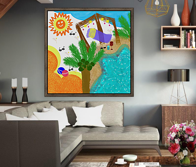 BEACH with Floating Frame