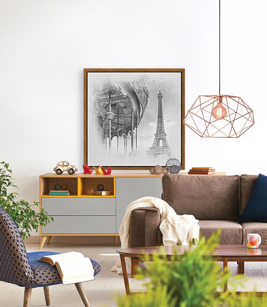 Typical Paris   monochrome watercolor  Art