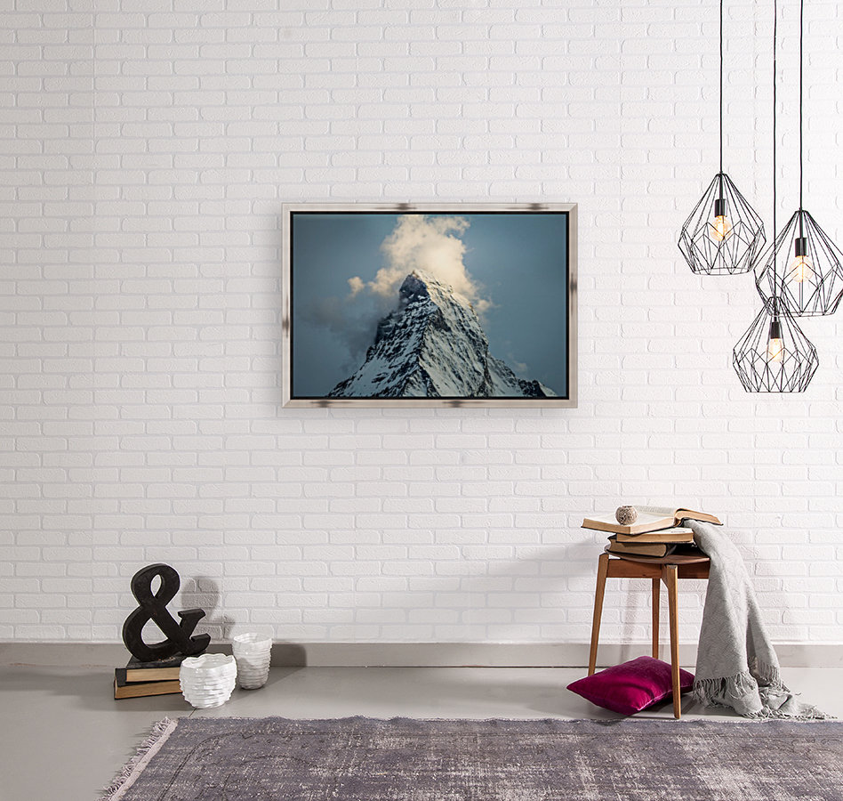 Matterhorn Glow Blue with Floating Frame