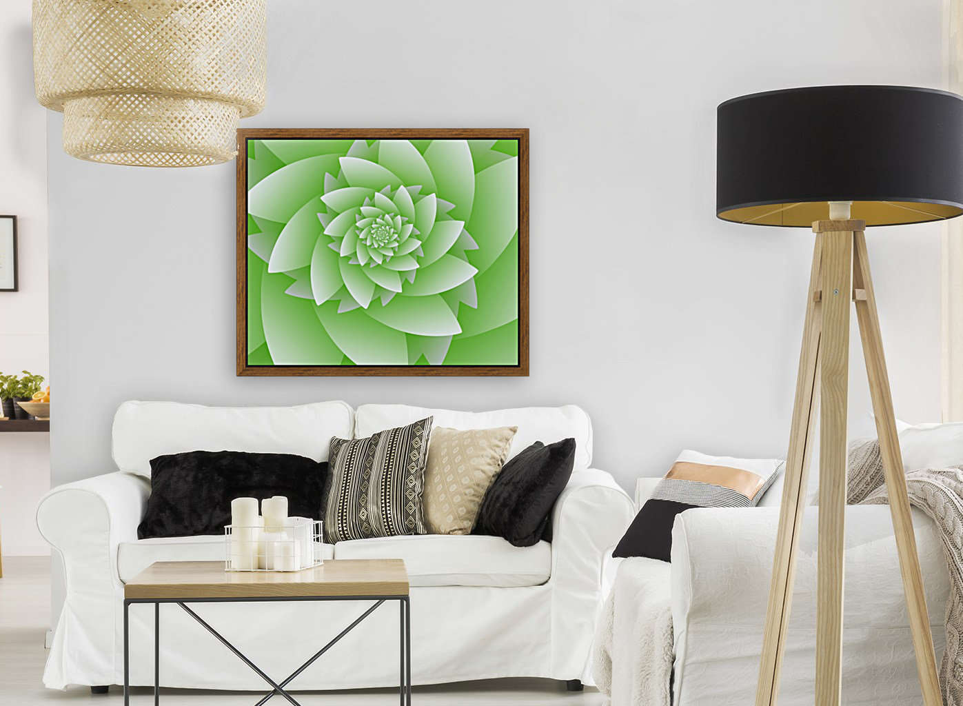Greeny Floral  Art