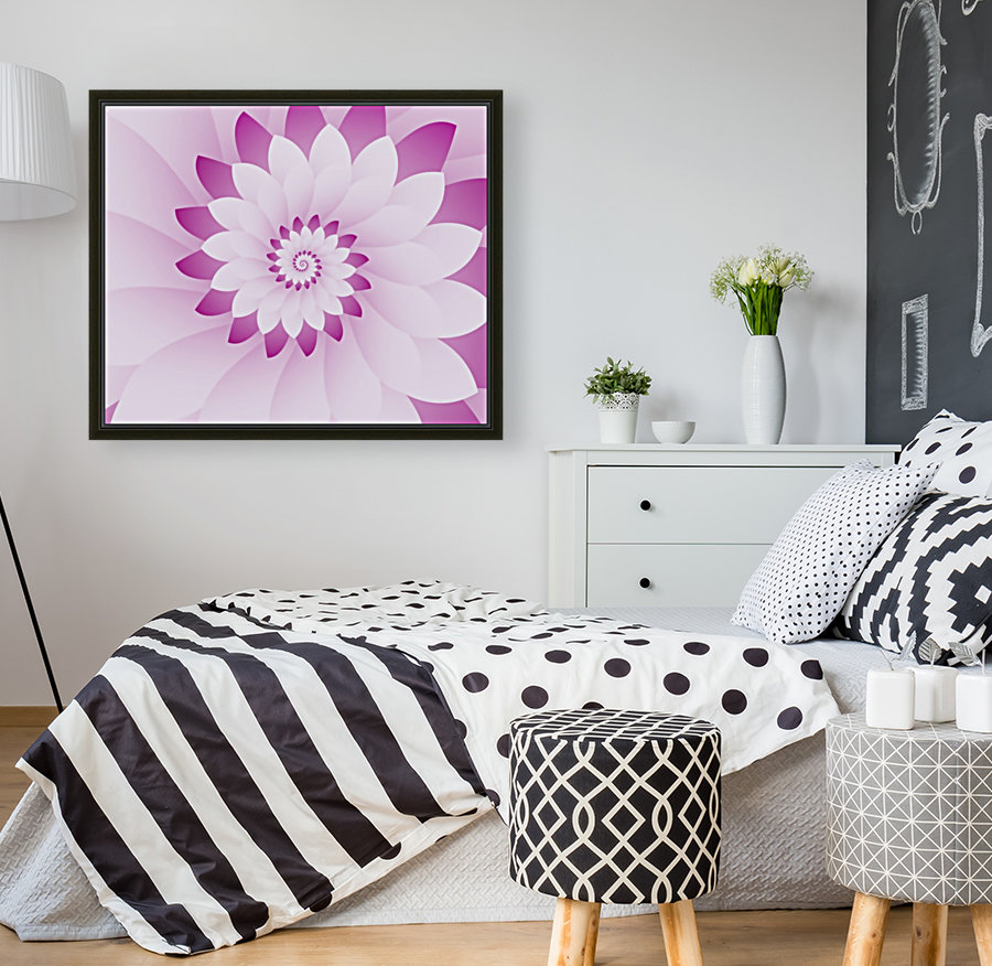 Abstract Pink & White Floral Design Art  Art