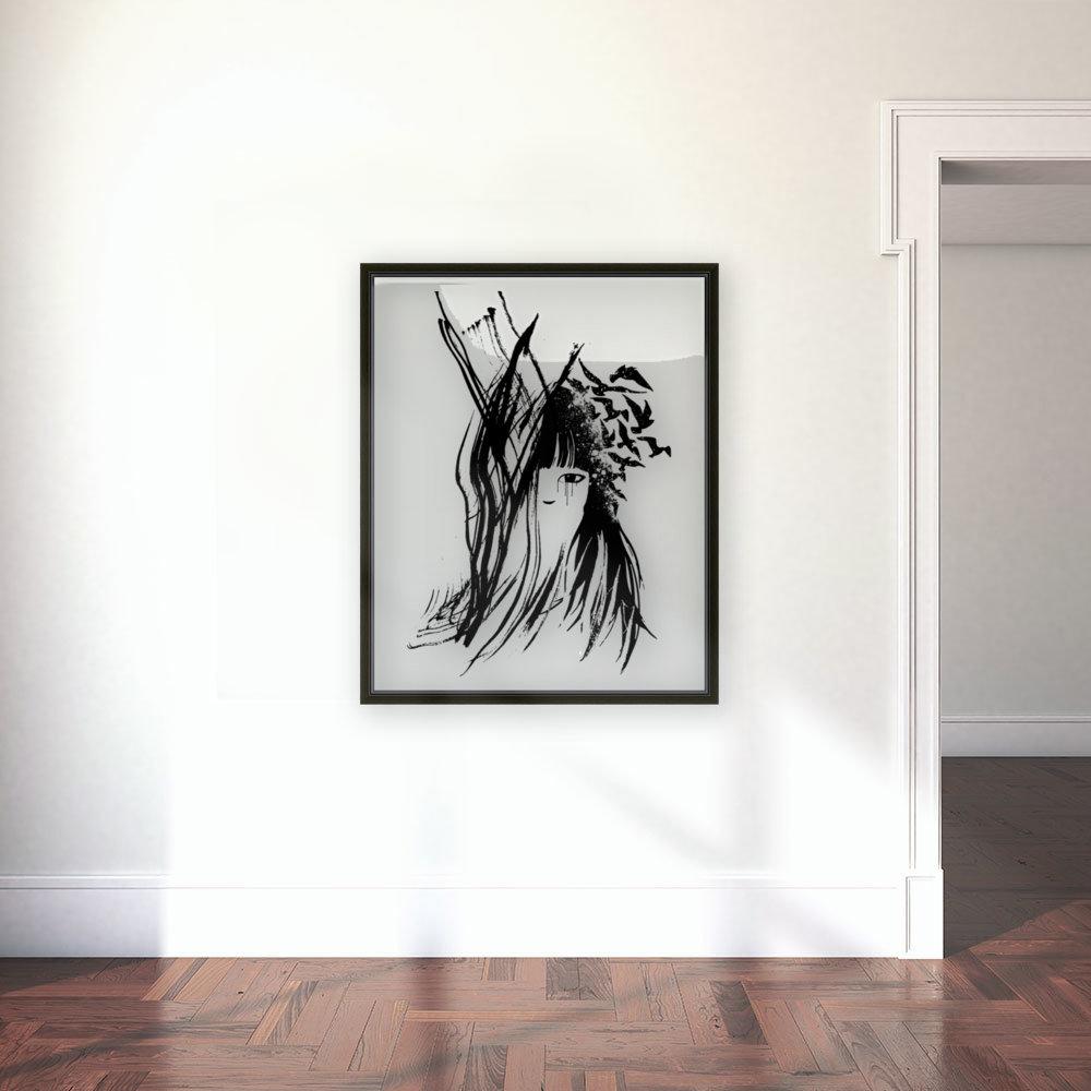 Abstract Girl 2  Art