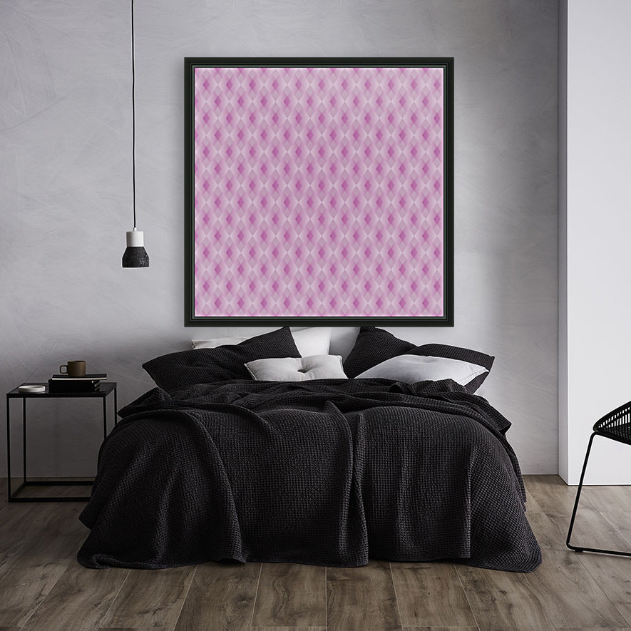 Diamond Shape Pattern Artwork with Floating Frame