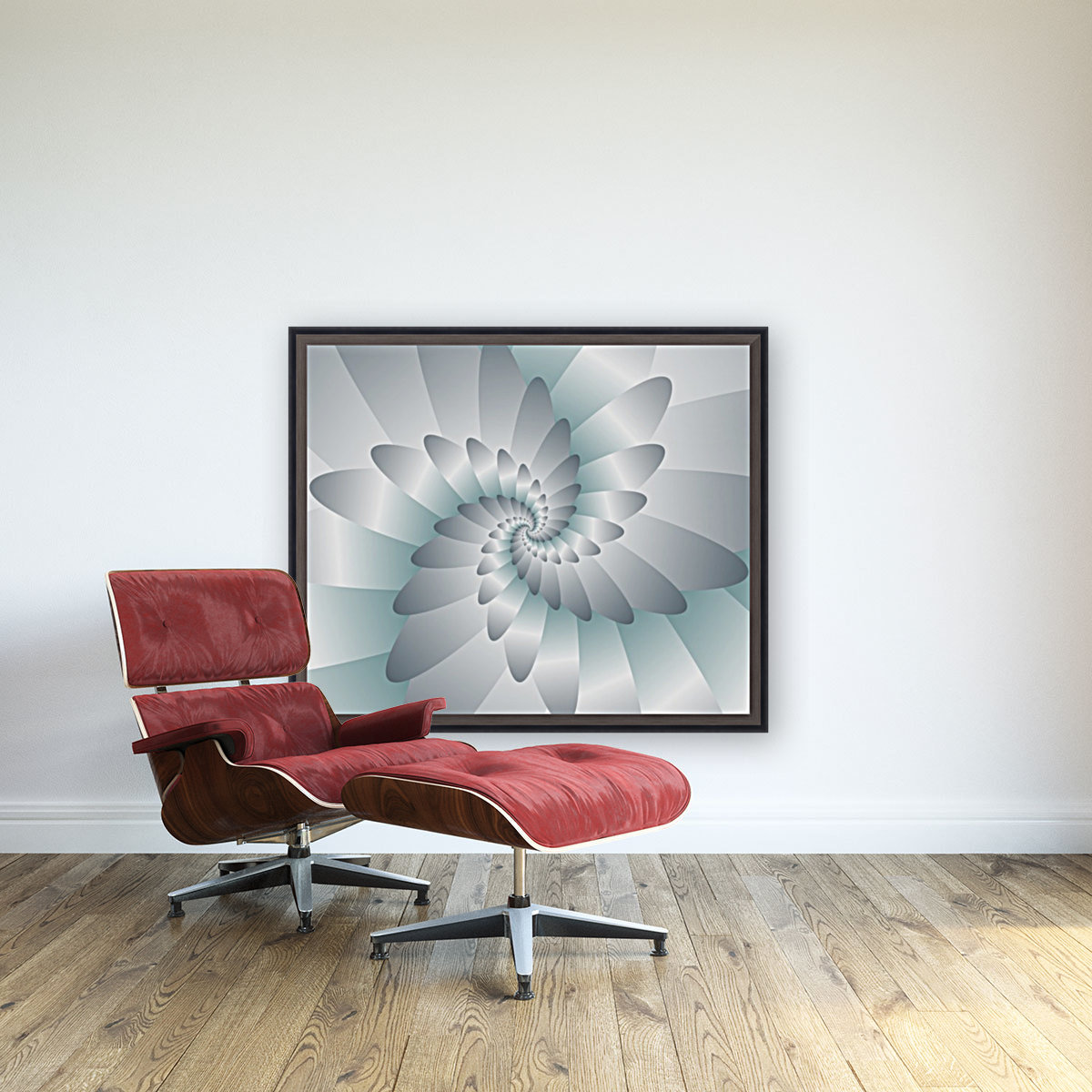 Swirl Wings Art with Floating Frame