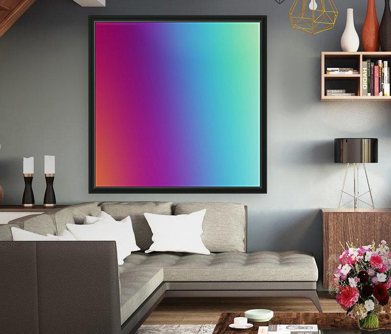 Multicolor Background with Floating Frame