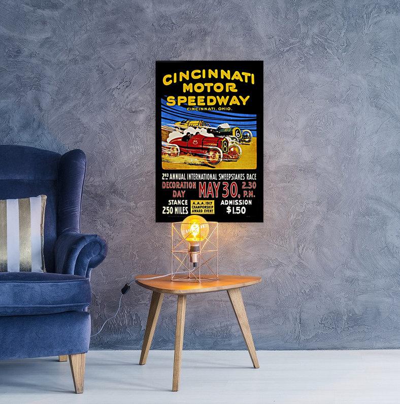 CincIInnati Motor Speedway 2nd Annual International Sweepstakes Race 1917  Art
