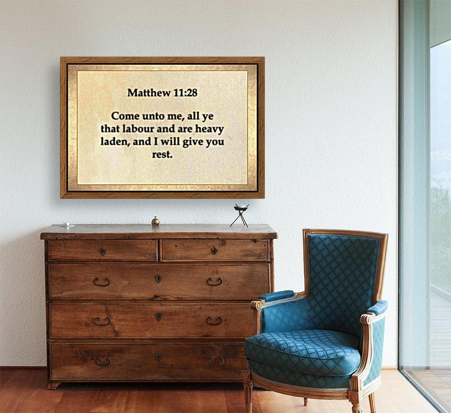 Matthew 11 28  Art
