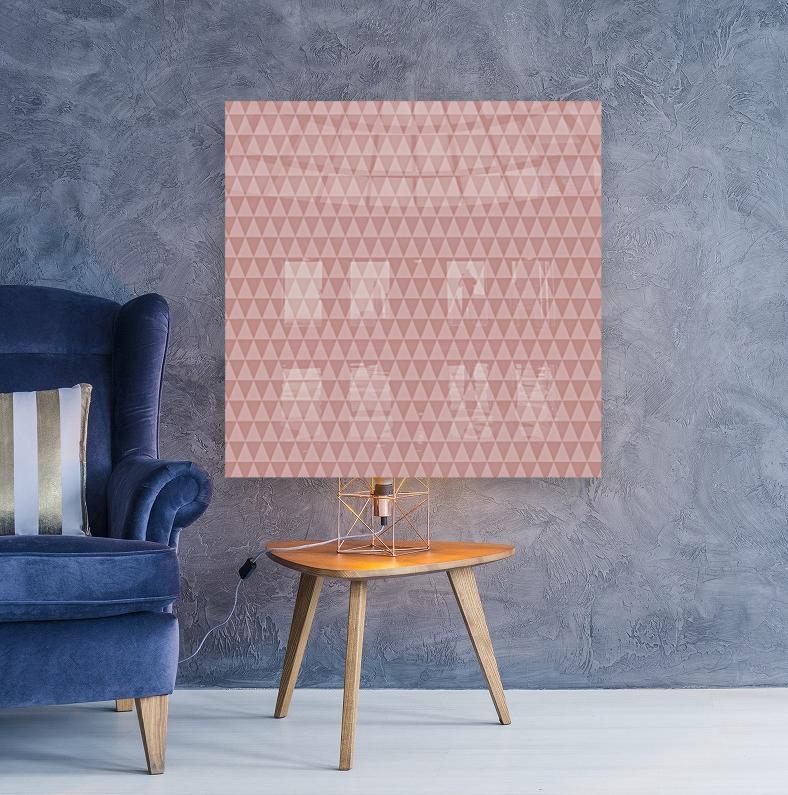 ORANGE Triangle Shape Seamless Pattern Background     Art