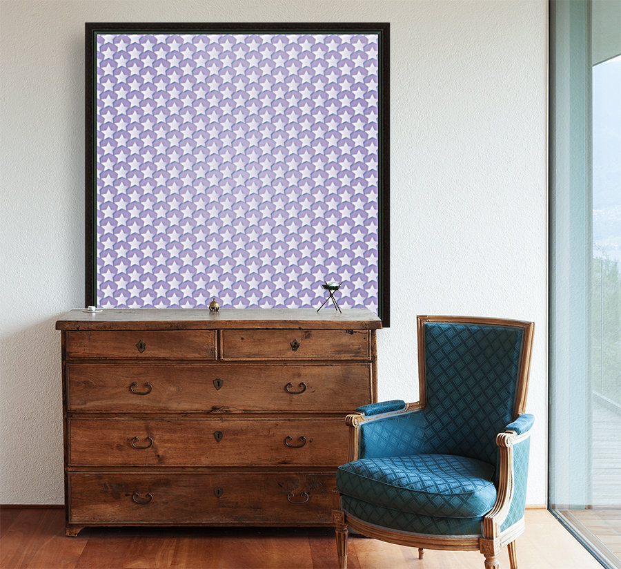 Purple Star Pattern with Floating Frame