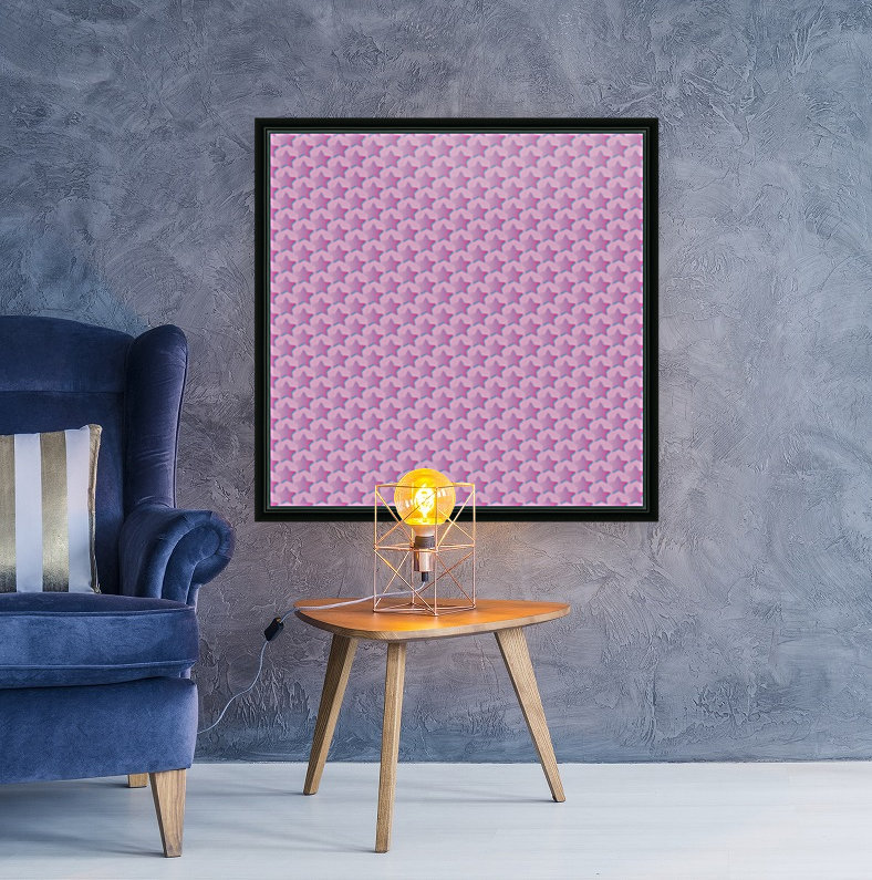 Pink Star Pattern  Art