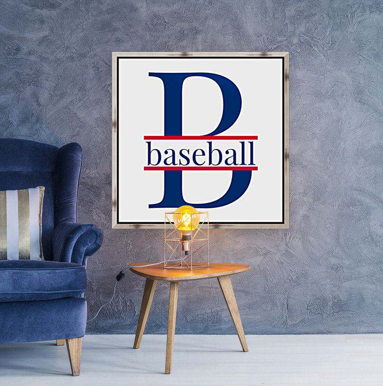 B is for Baseball  with Floating Frame