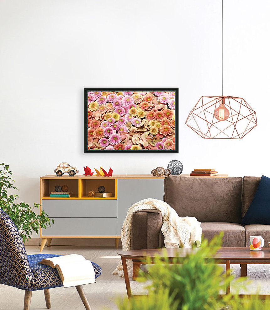 Flowers with Floating Frame