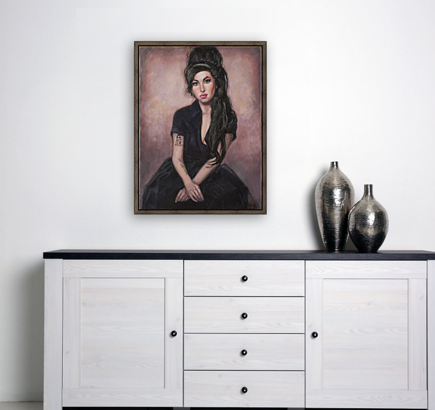 Amy in black  with Floating Frame