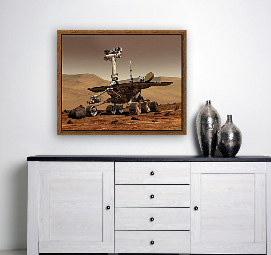 Artists Rendition of Mars Rover.  Art