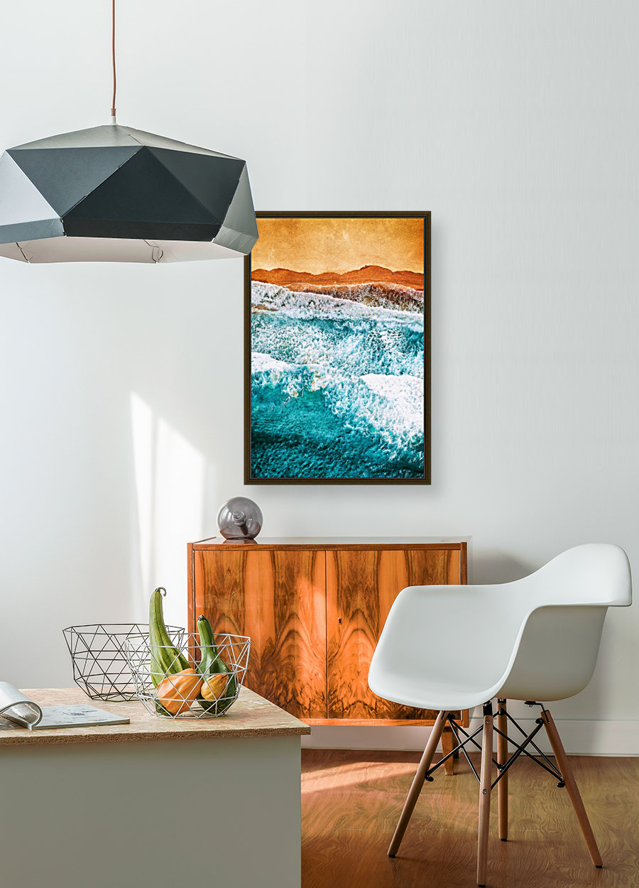 Tropical VI - Beach Waves II  with Floating Frame