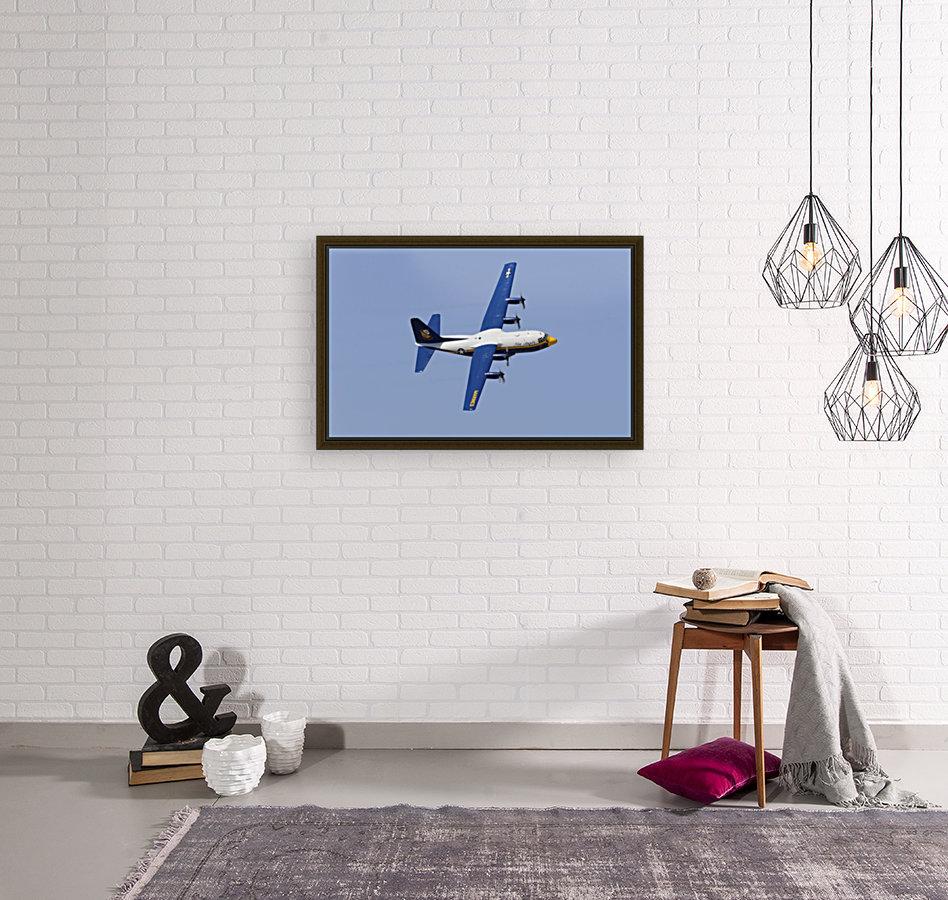 A C-130 Hercules of the Blue Angels flight demonstration squadron.  Art