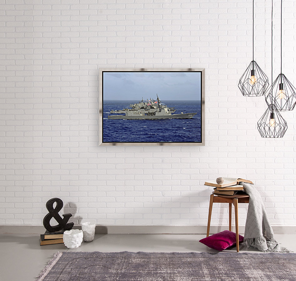 JDS Atago sails in formation with U.S. Navy and Japan Maritime Self Defense Force ships.  Art