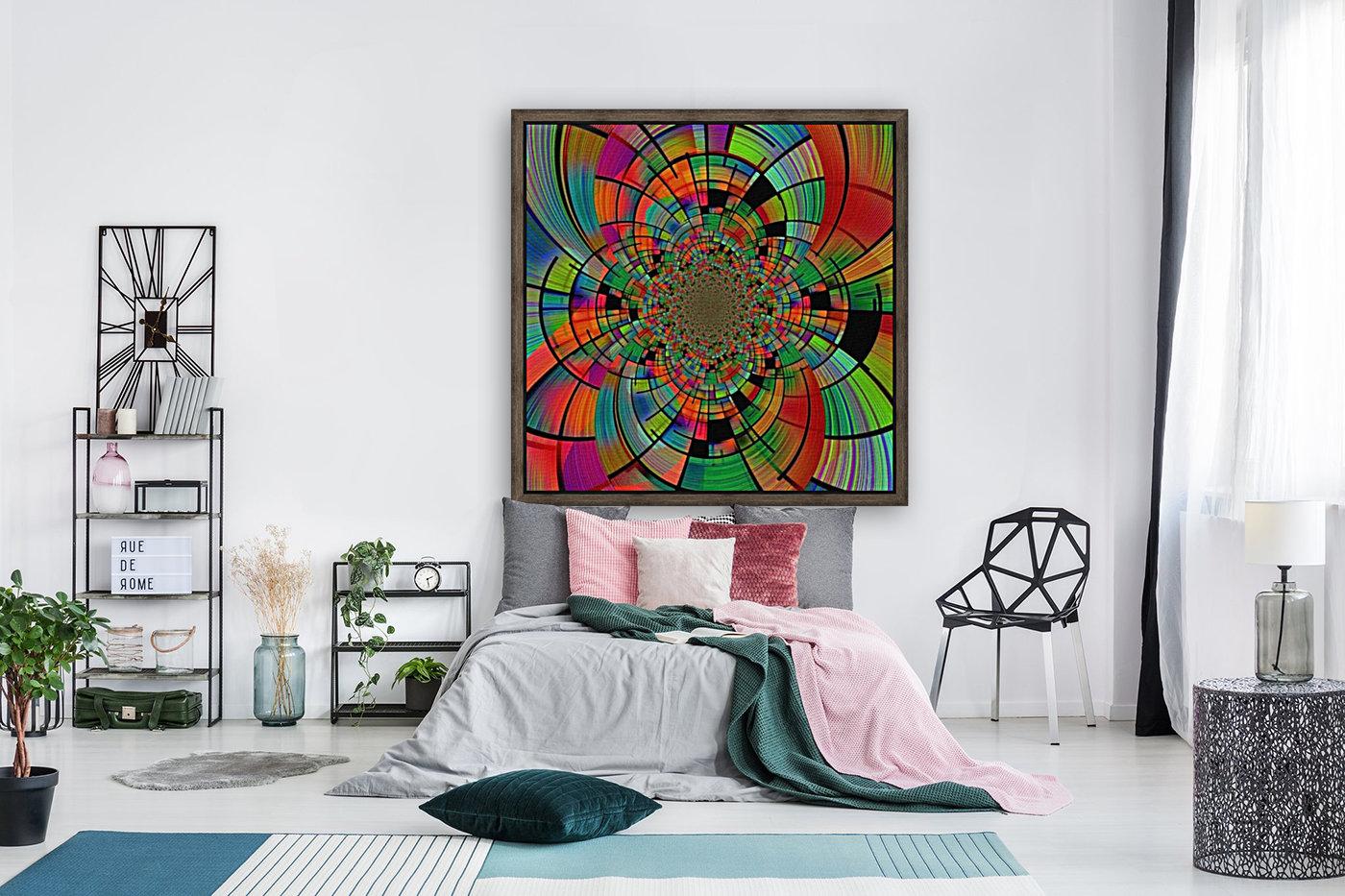Colorful Geometric Fractal  Art