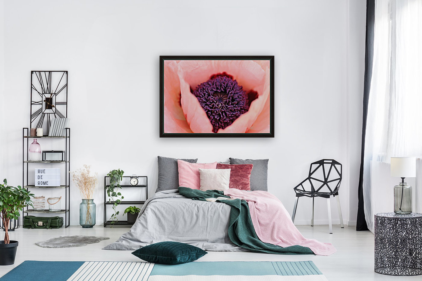 Pink Poppy Soul with Floating Frame