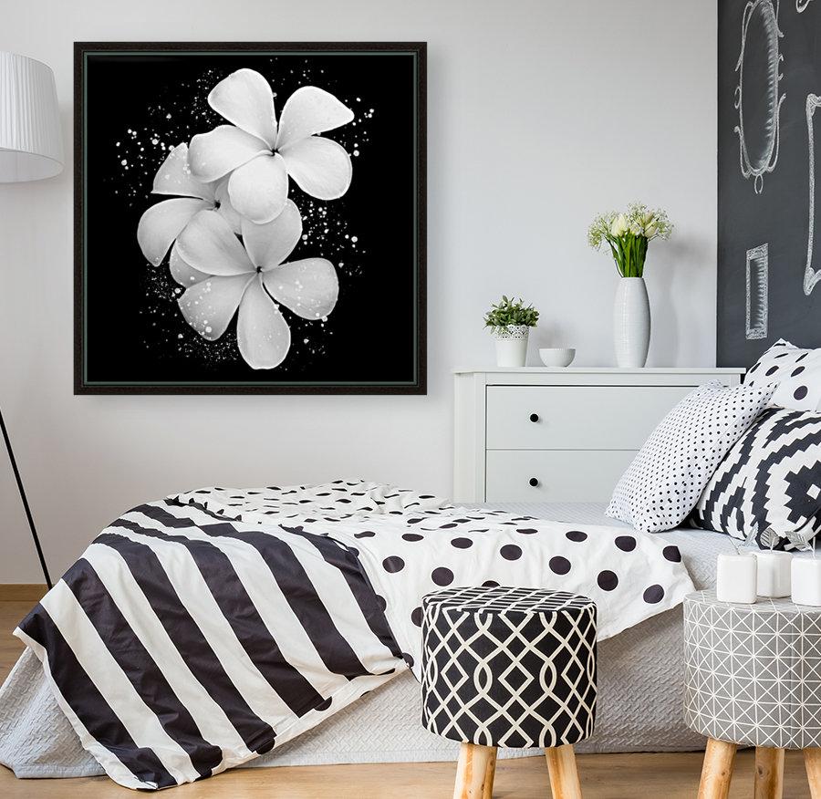White Petunias   Art