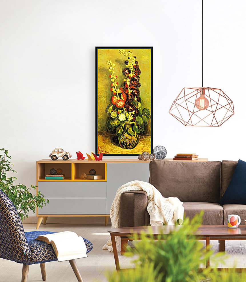 Hollyhocks by Van Gogh  Art