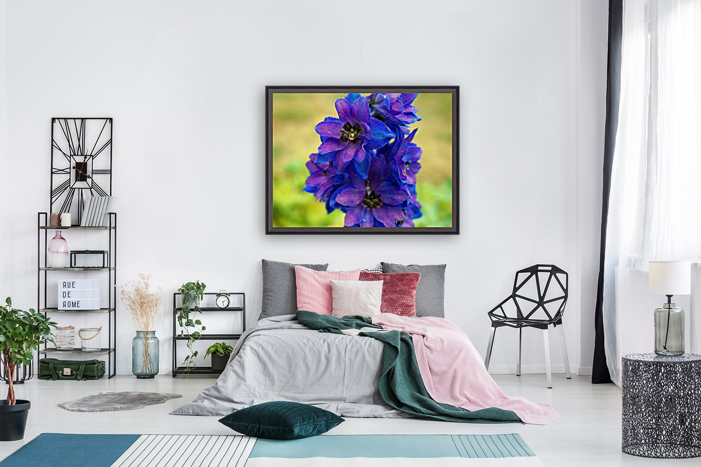 Purple And Blue  Art