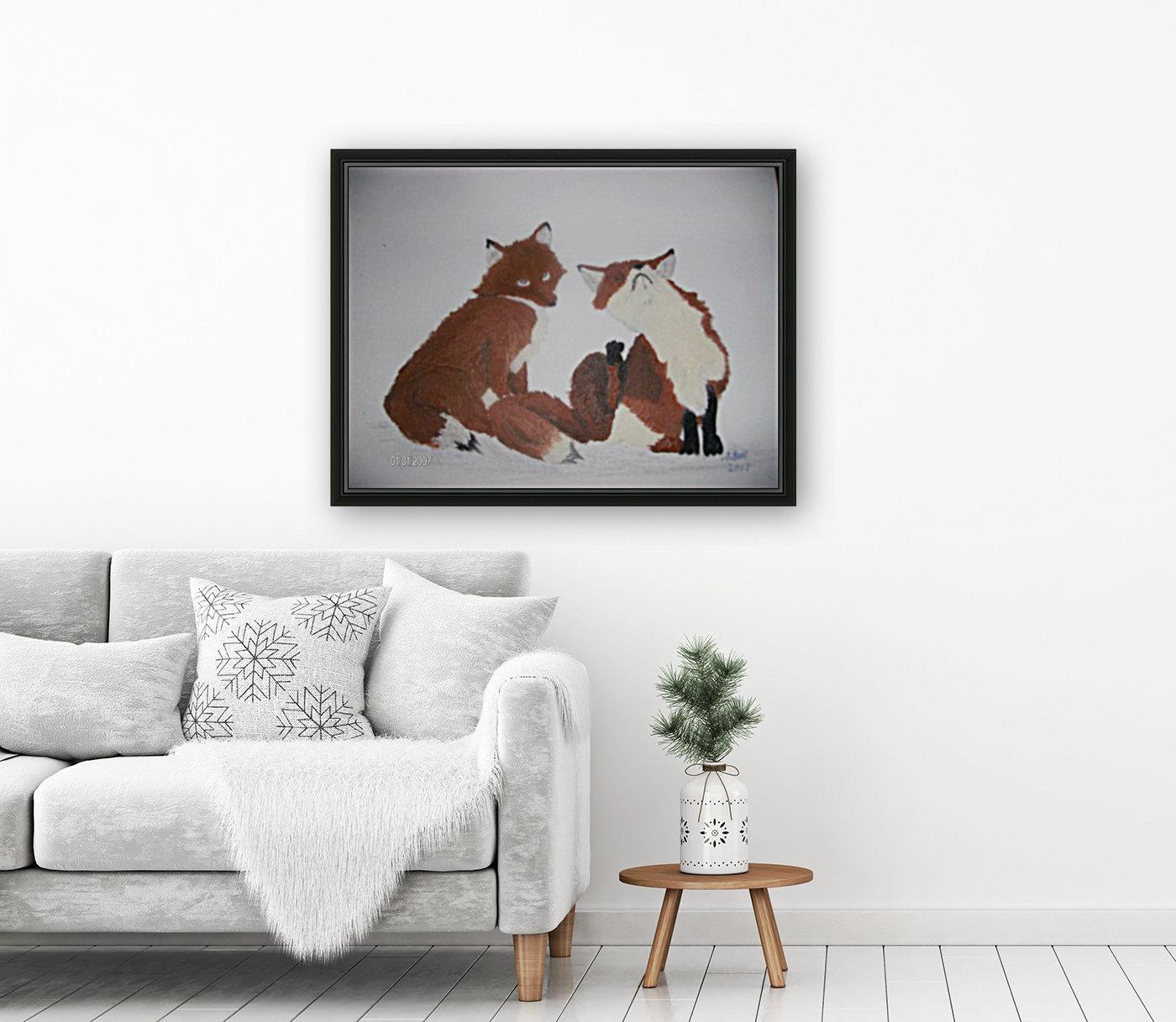 Red Fox pair  Art