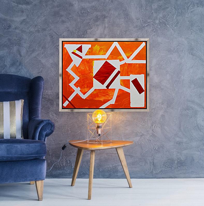 Geometric Orange. Jessica B  Art