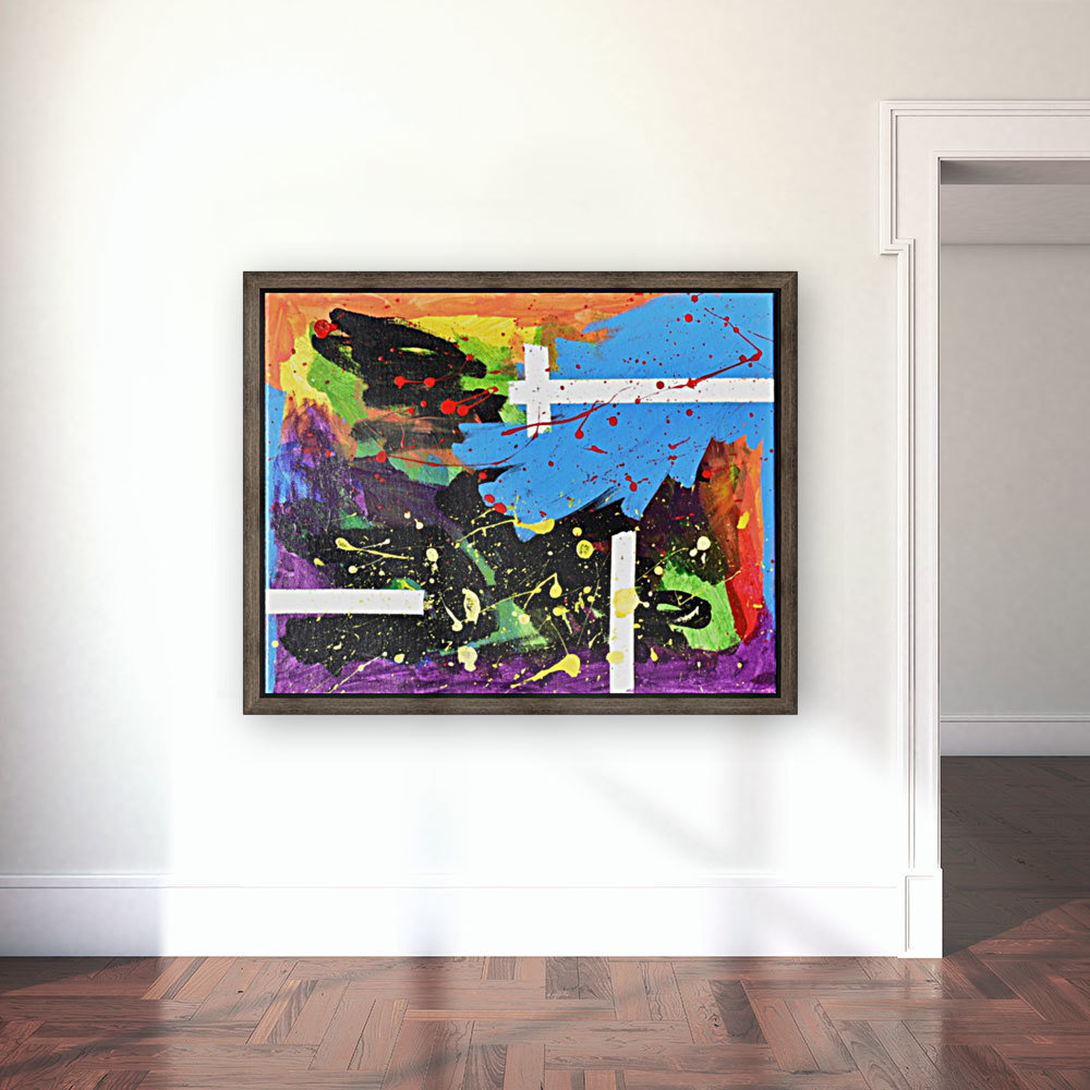 Bright Abstract. Walker W. with Floating Frame