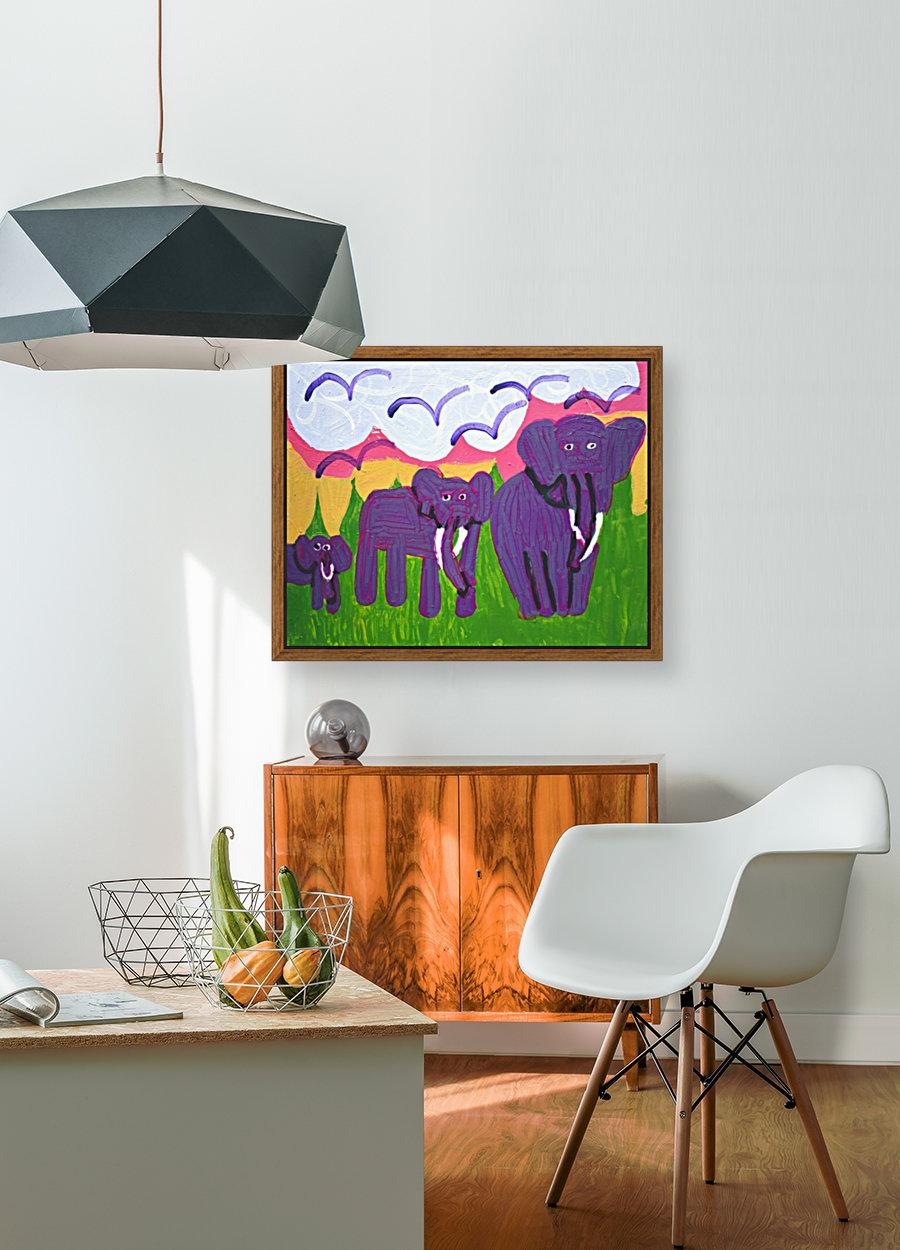 Purple Elephants. Michael D.  Art