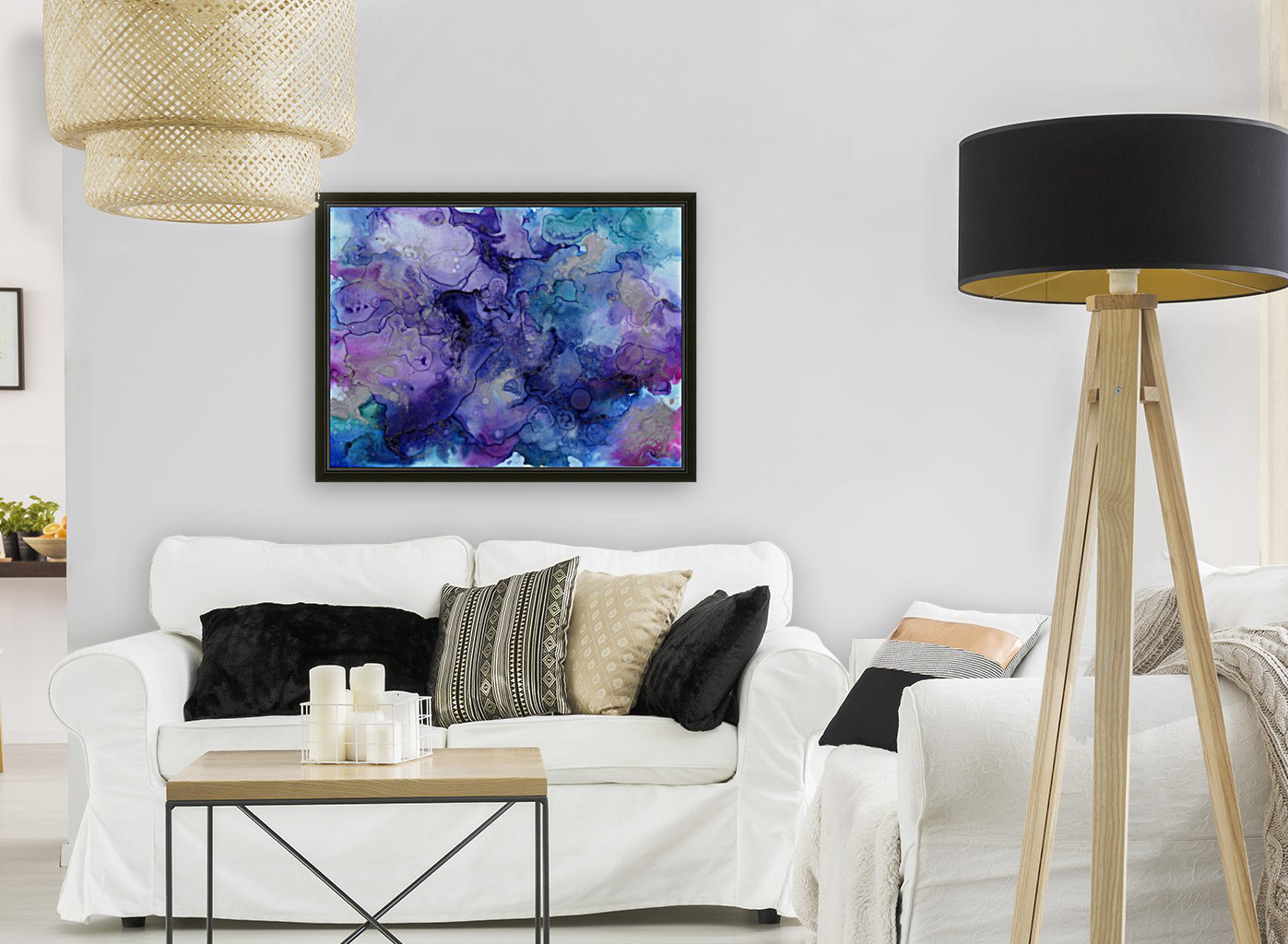 PURPLE CLOUDS with Floating Frame