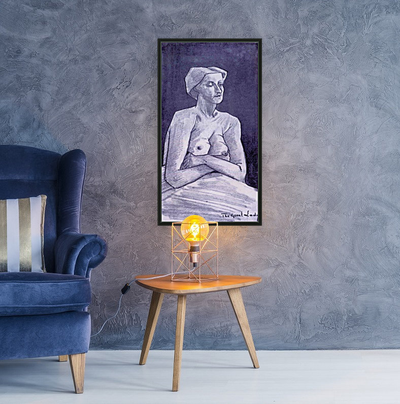 Large woman by Van Gogh with Floating Frame