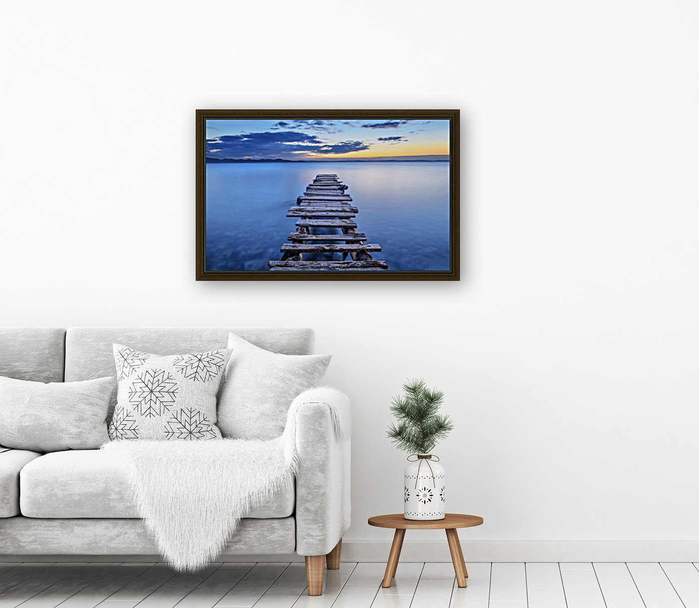 Pier with Floating Frame