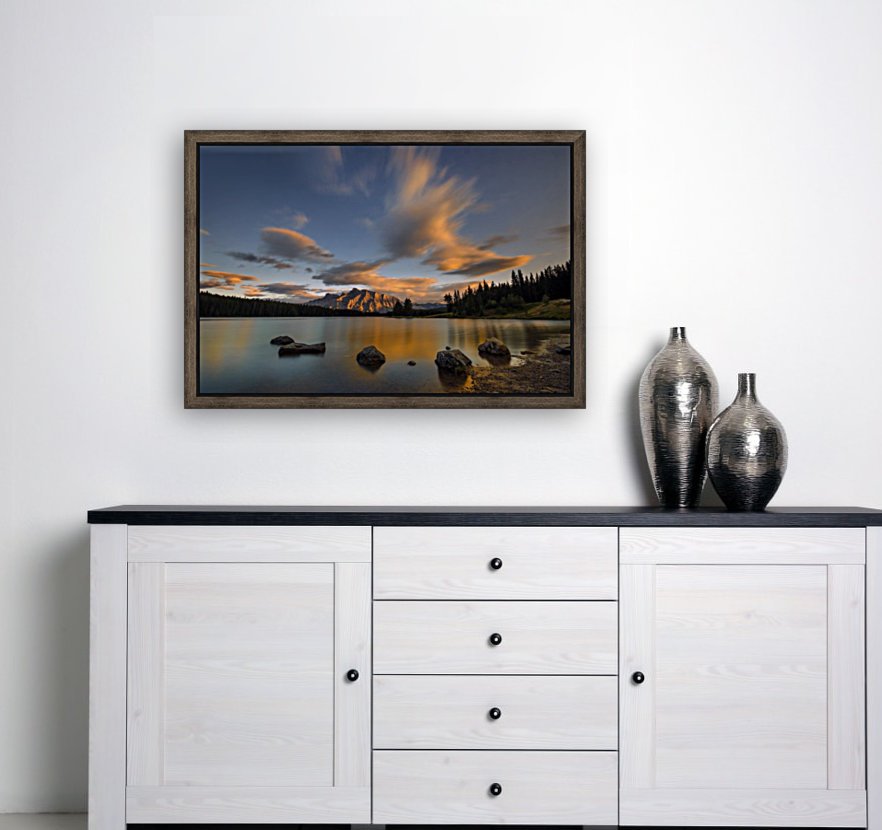 Two Jack Lake Sunset  Art