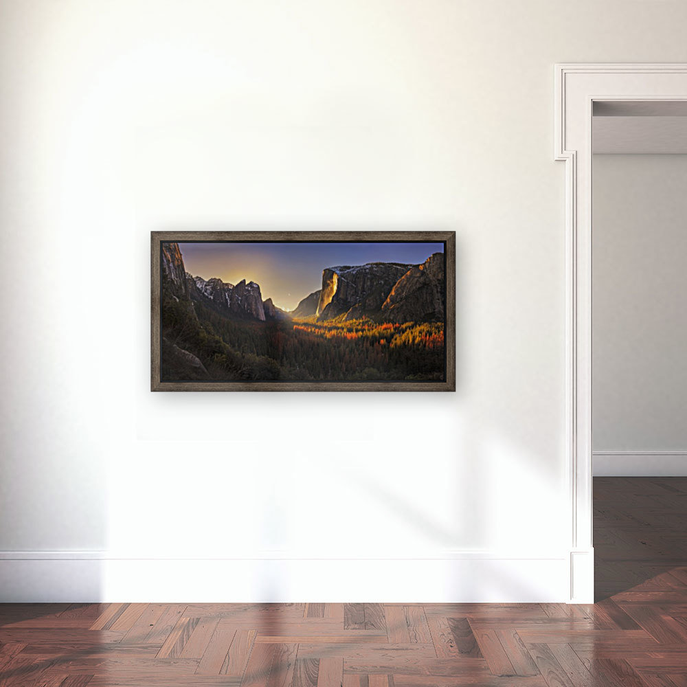 Yosemite Firefall with Floating Frame