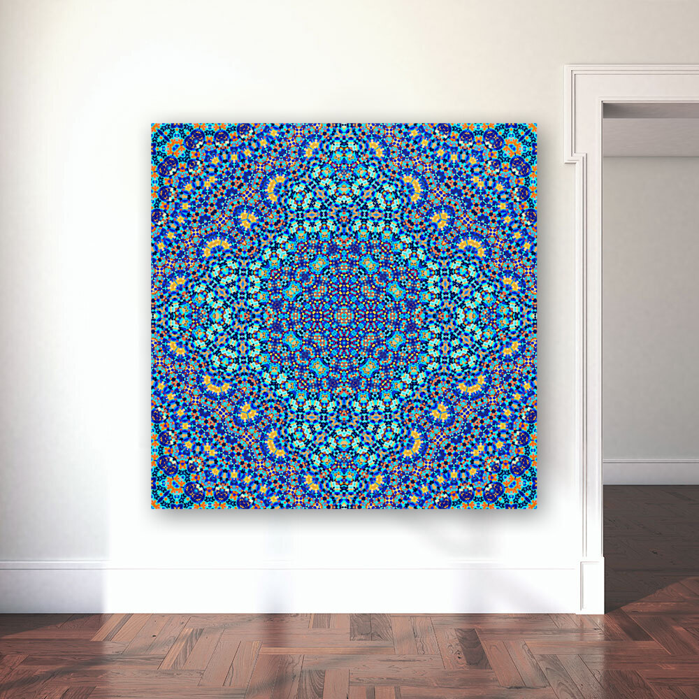 Mandala XIII with Floating Frame