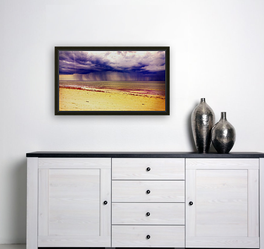 YELLOW BEACH with Floating Frame