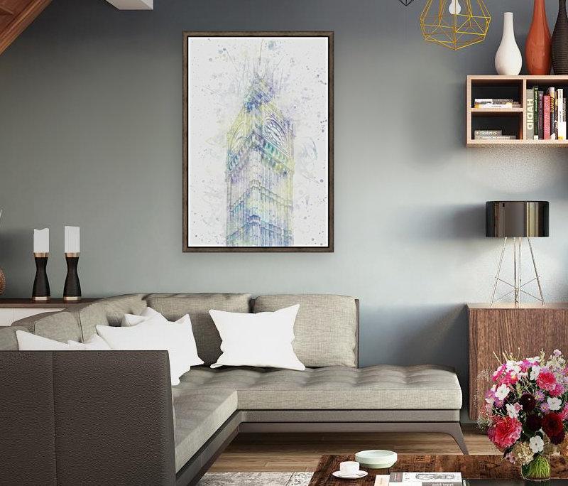 Modern Art BIG BEN | watercolor   Art