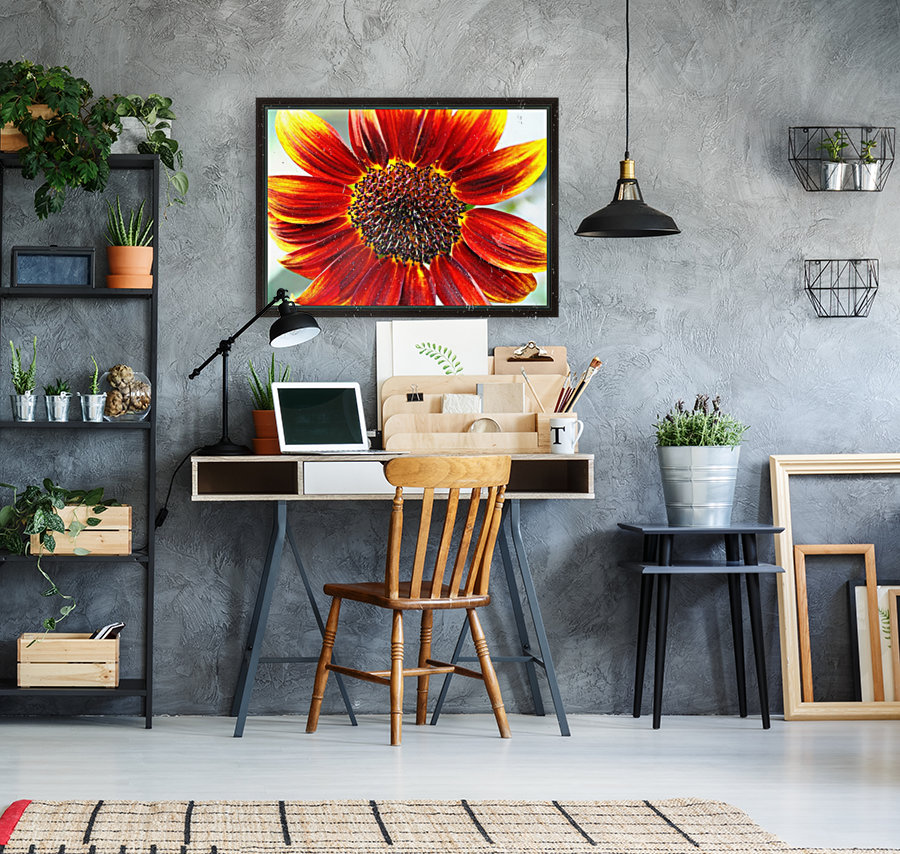 Autumn Sunflower with Floating Frame