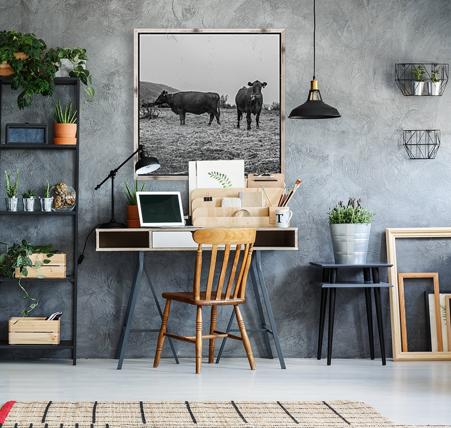 Cows in the mist  Art