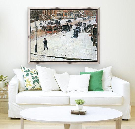 Fifth Avenue in Winter by Hassam  Art