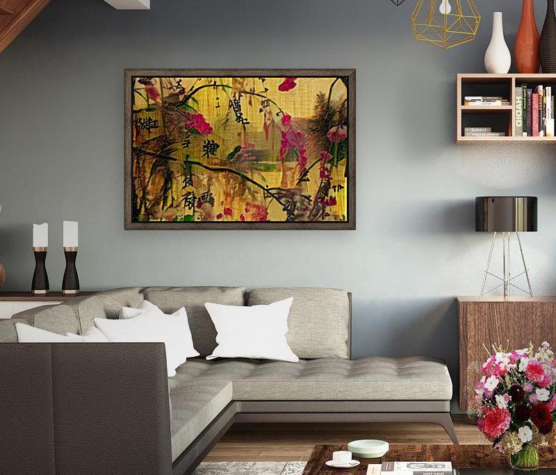 Oriental Painting. Japanese Style  Art